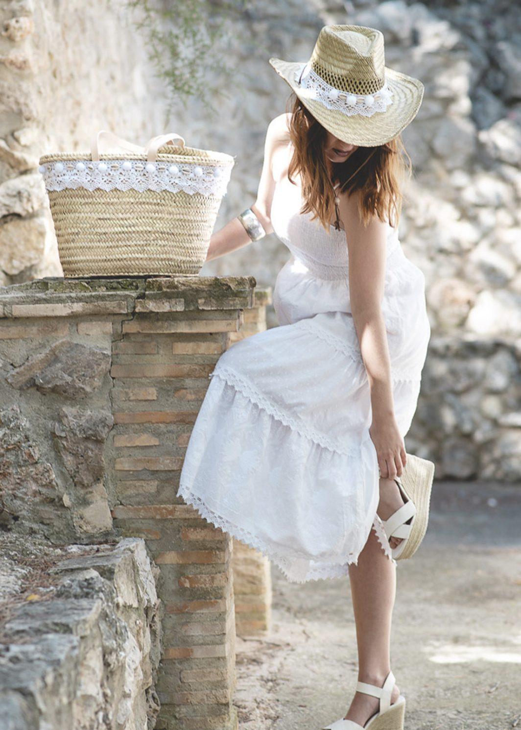 vestidos blanco ibicenco