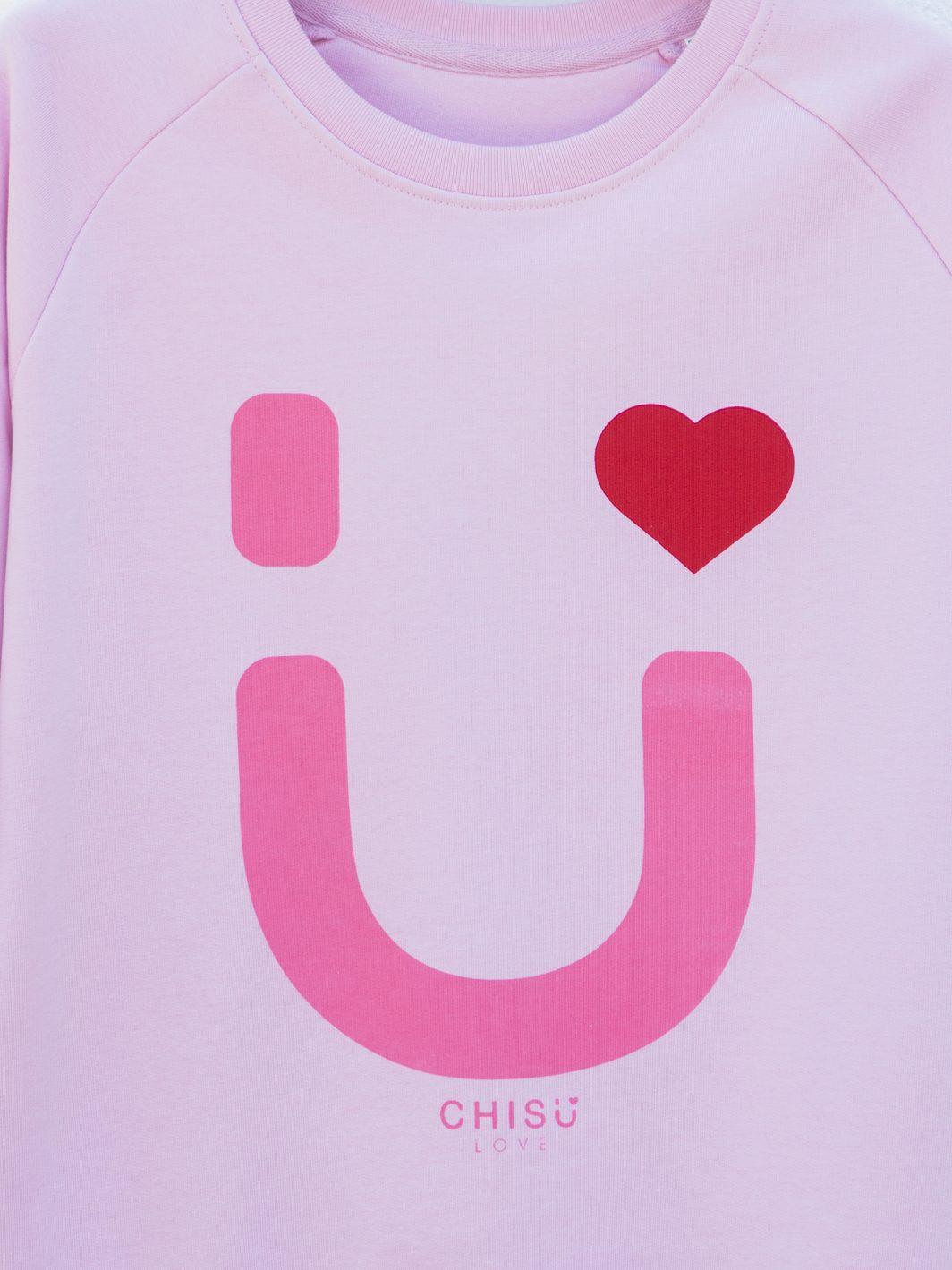 sudadera heart pink diseño