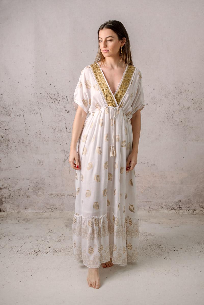 vestido boho raissa blanco
