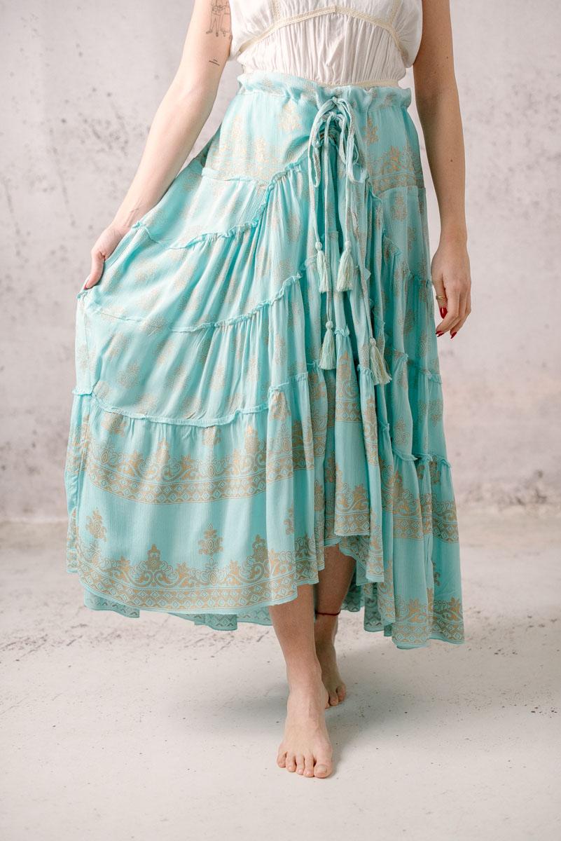 falda larga boho lula natura